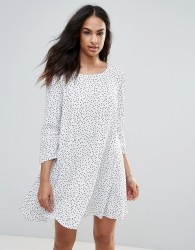 FRNCH Spotty Dress - White