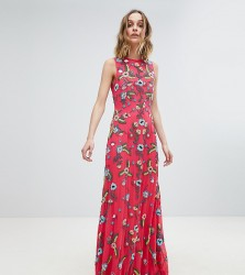 Frock And Frill Premium Embellished Maxi Dress - Pink