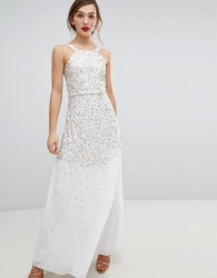 Frock & Frill Scatter Sequin Maxi Dress - Cream