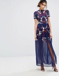 Frock & Frill Sequin Maxi Dress - Blue