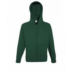 Fruit of the Loom Hooded Sweat Jacket - Darkgreen * Kampagne *