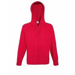 Fruit of the Loom Hooded Sweat Jacket - Red * Kampagne *