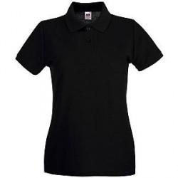 Fruit of the Loom Lady-Fit Premium Polo - Black - Medium * Kampagne *