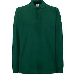 Fruit of the Loom Premium Long Sleeve Polo - Green - 3XL