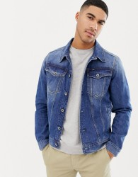 G-Star 3301 slim fit denim jacket in mid wash - Blue