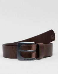 G-Star Zed Leather Belt In Brown - Brown