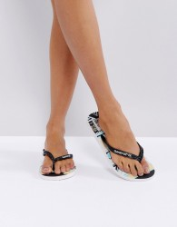 Gandys Slim Line Flip Flops with Graphic Print - Multi