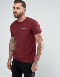 Gandys T-Shirt With Small Logo In Burgundy - Red