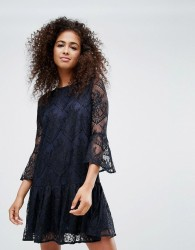 Ganni Flynn Lace Dress - Navy