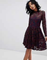 Ganni Flynn Lace Dress - Navy