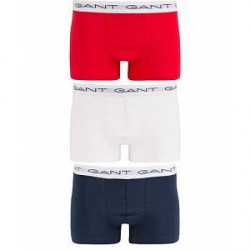 GANT 3-Pack Trunk Boxer Red/Navy/White
