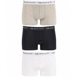 GANT 3-Pack Trunk Boxer White/Black/Grey Melange