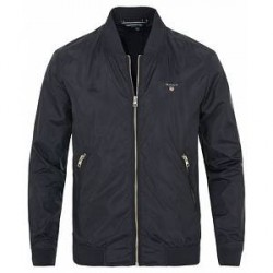 GANT Airy Nylon Bomber Jacket Navy