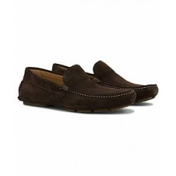 GANT Austin Suede Moccasin Dark Brown