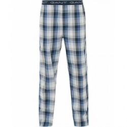 GANT Block Check Pyjama Pants Blue Oean