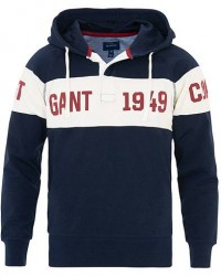 GANT Block Stripe Rugger Hoodie Evening Blue men XL