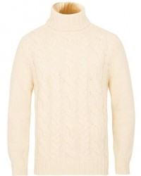 GANT Chunky Cable Turteneck Off White