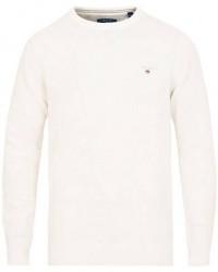 GANT Cotton/Pique Crew Neck Eggshell men XL