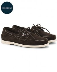 GANT Exclusively Made For Care of Carl Boatshoe Dark Brown Suede men 42