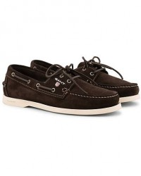GANT Exclusively Made For Care of Carl Boatshoe Dark Brown Suede men 46