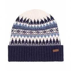 GANT Fairisle Knit Beanie Persian Blue