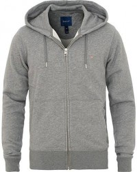 GANT Full Zip Hoodie Dark Grey men M