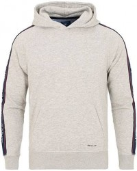 GANT Iconic Logo Hoodie Light Grey Melange