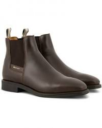 GANT James Chelsea Boot Dark Brown Calf