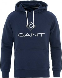 GANT Lock Up Hoodie Evening Blue men XS