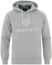GANT Lock Up Hoodie Grey Melange men XL