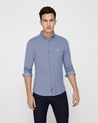 GANT Pique Solid langærmet skjorte