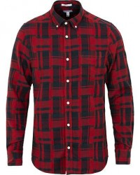 GANT Rugger Deconstructed Check Shirt Winter Wine