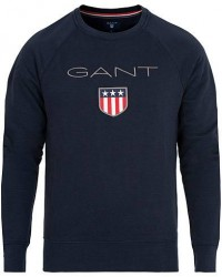 GANT Shield Crew Neck Sweatshirts Evening Blue men S