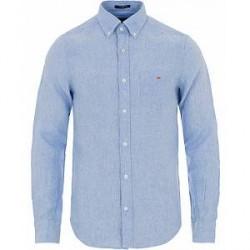 GANT Slim Fit Linen Shirt Capri Blue
