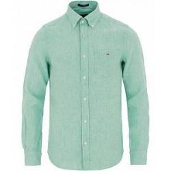GANT Slim Fit Linen Shirt Spearmint