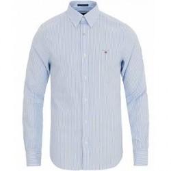 GANT Slim Fit Poplin Stripe Shirt Capri Blue