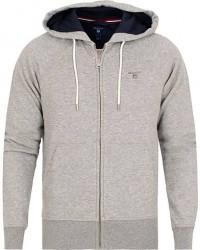 GANT The Original Full Zip Hoodie Grey Melange men XS