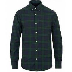 GANT Winter Twill Blackwatch Shirt Tartan Green