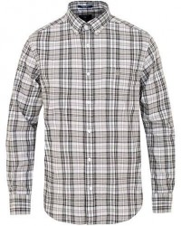 GANT Winter Twill Plaid Shirt Dark Grey Melange