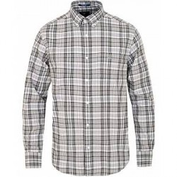 GANT Winter Twill Plaid Shirt Dark Grey Melange