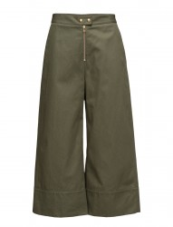 Garment Washed Lightweight Cotton Cropped Pants