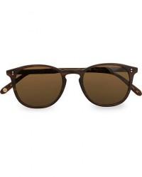 Garrett Leight Kinney 49 Sunglasses Matte Brandy Tortoise/Brown Polari men One size Brun