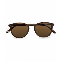 Garrett Leight Kinney 49 Sunglasses Matte Brandy Tortoise/Brown Polari