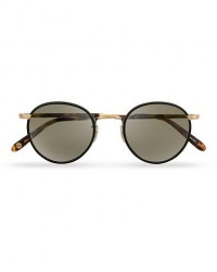 Garrett Leight Wilson 49 Sunglasses Matte Black/Tortoise/Pure Grey men One size Brun,Sort