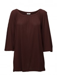 Gathered Scoop Neck Blouse