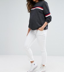 Gebe Maternity Over The Bump Super Soft Skinny Jean - White