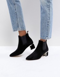Gestuz Ankle Boots with Block Heel - Black