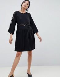Gestuz Anne Lace Panelled Dress - Black