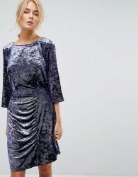 Gestuz Crushed Velvet Dress - Purple
