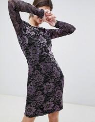 Gestuz Lana Lace Long Sleeved Dress - Purple